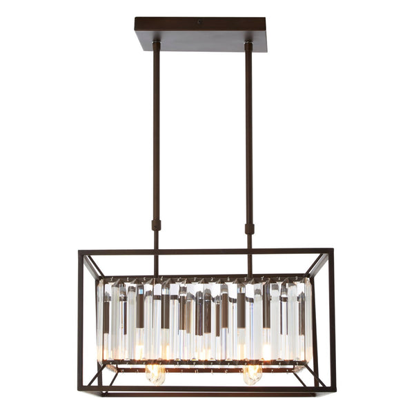 Ula 4 Bulb Chandelier, Iron / Glass
