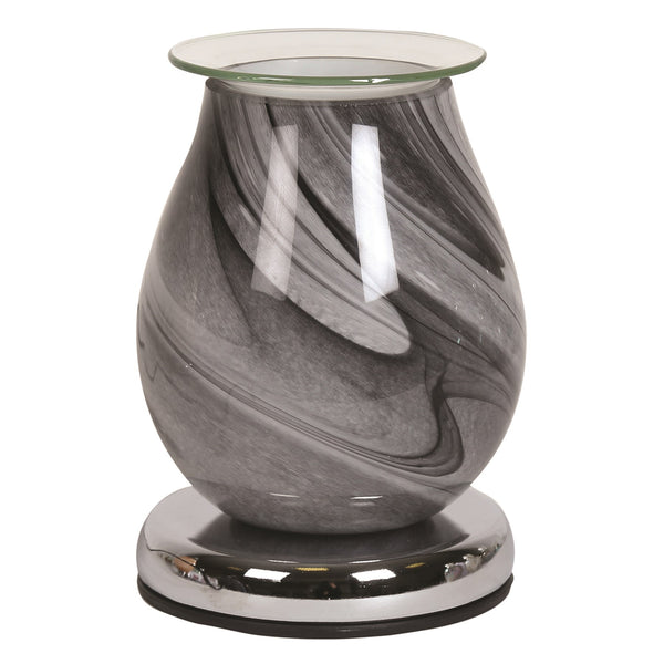 Electric Wax Melt Burner, Grey Swirl