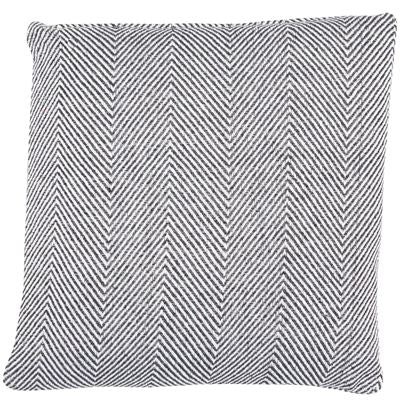 Slate Chevron Square feather filled Cushion (Recycled Material)