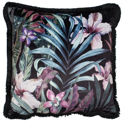 Exotic Flower Square feather filled Cushion