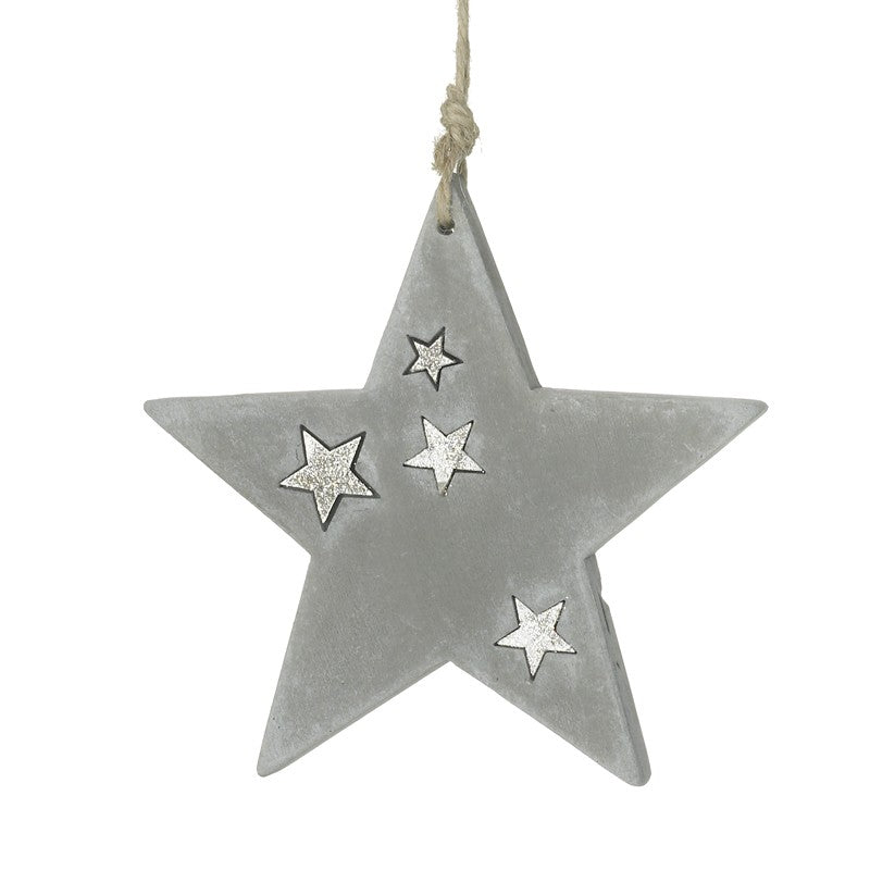 Cement Star Hanging Ornament