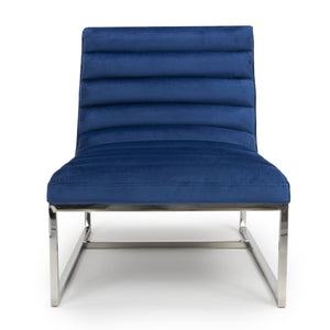 Jamie Accent Chair, Ocean Blue Velvet