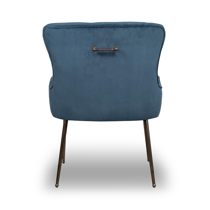 Sophie Brushed Velvet Accent Chair, Blue