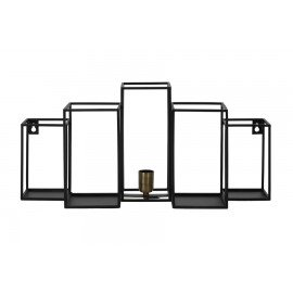 Theo Wall Lamp with Shelves, Black