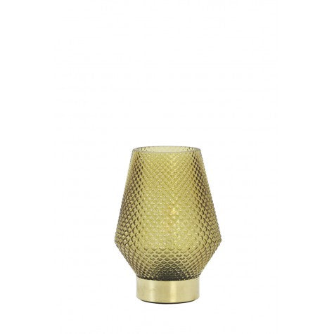 Hazel Small LED Table Lamp, Ochre