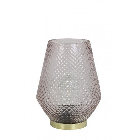 Hazel Large LED Table Lamp, Barely Pink