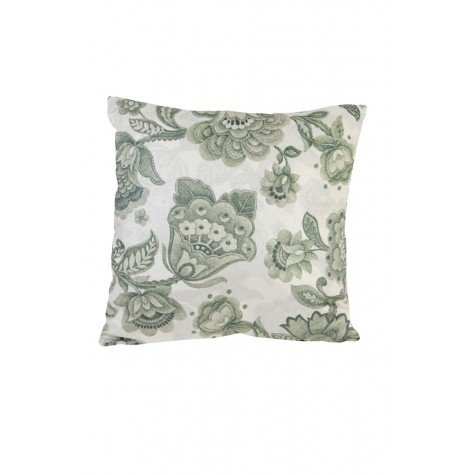 Janine Floral Reversible Square Cushion, Green / White