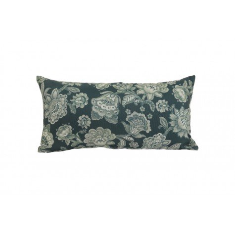 Janine Floral Reversible Cushion, Green / White