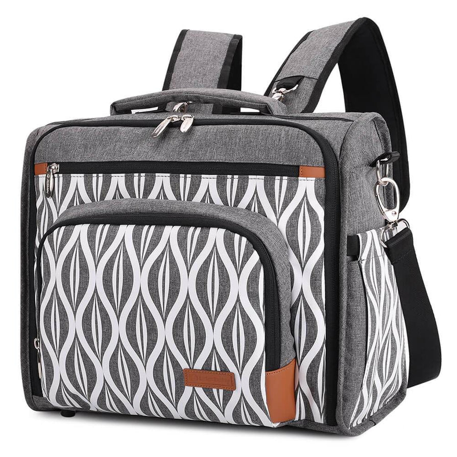 Lekebaby Convertible Diaper Bag