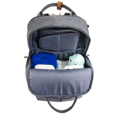 Lekebaby open wide Traveling Diaper Bag Backpack