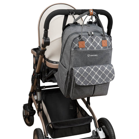 Lekebaby Diaper Bag Backpack on-the-go with stroller