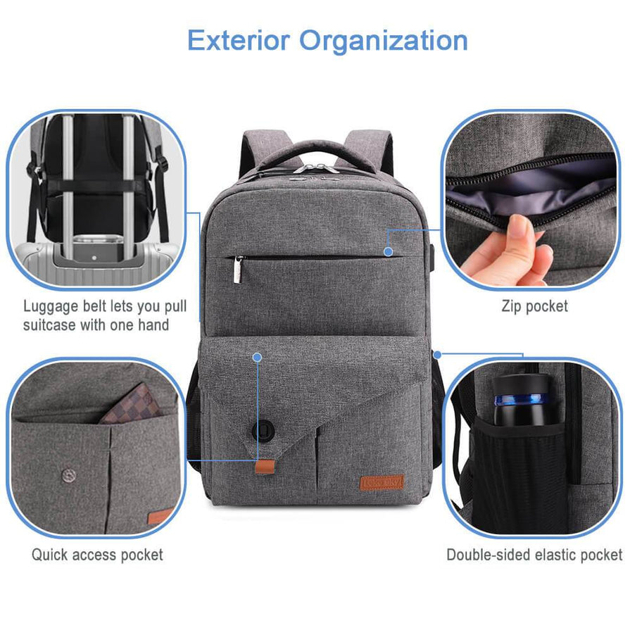 lekesky college backpack bag