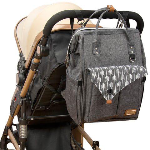 lekebaby diaper backpack bag on-the-go with stroller