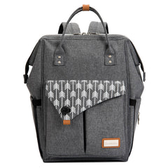 Lekebaby Arrow Print Diaper Backpack Bag