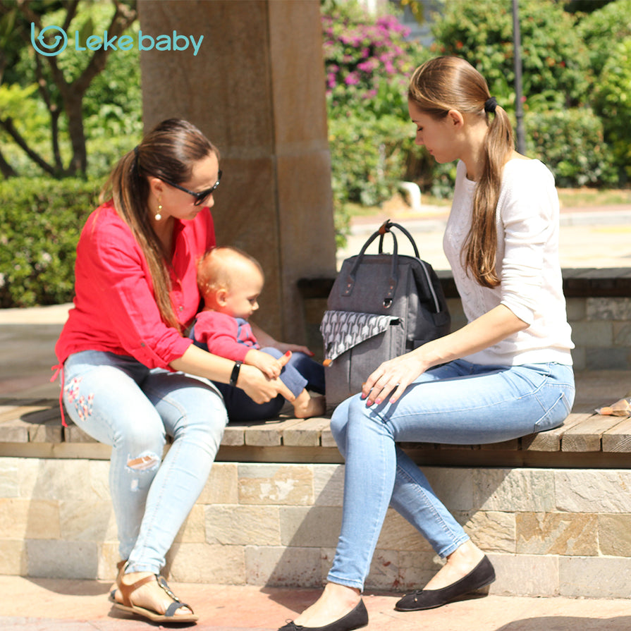Lekebaby Arrows Grey Diaper Bag
