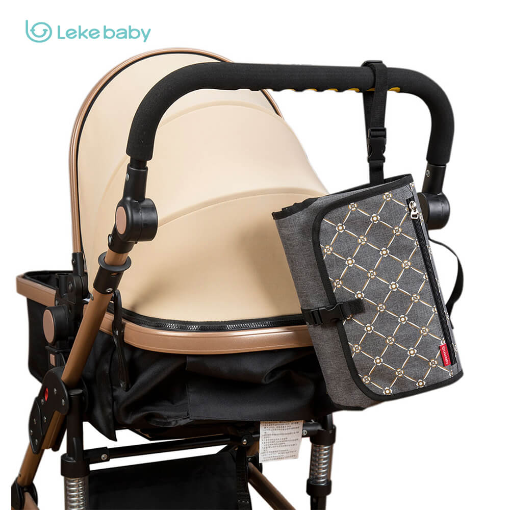 Lekebaby changing pad on-the-go with stroller