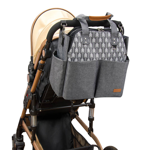 Lekebaby Diaper Bag on-the-go with stroller