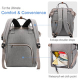 Lekebaby Light Grey Diaper Bag