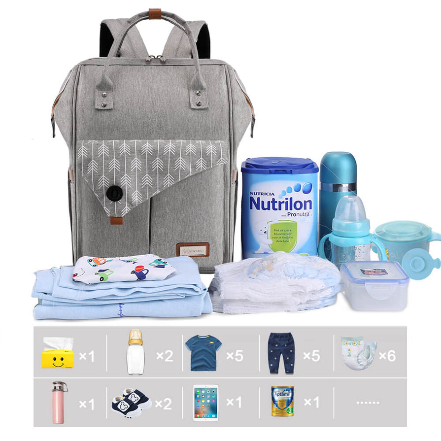 Lekebaby Traveling Diaper Bag
