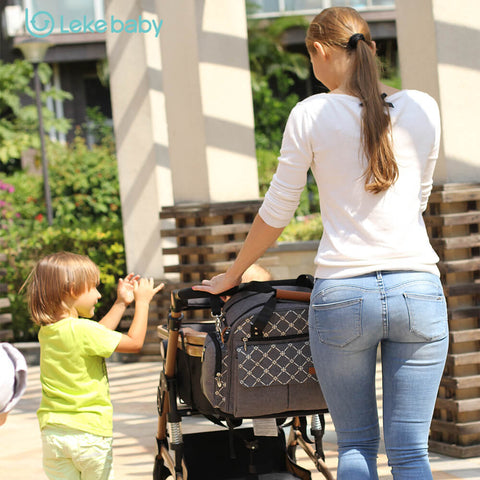 Lekebaby Portable & Expandable nappy Backpack