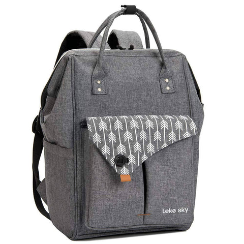 lekesky arrows grey laptop backpack
