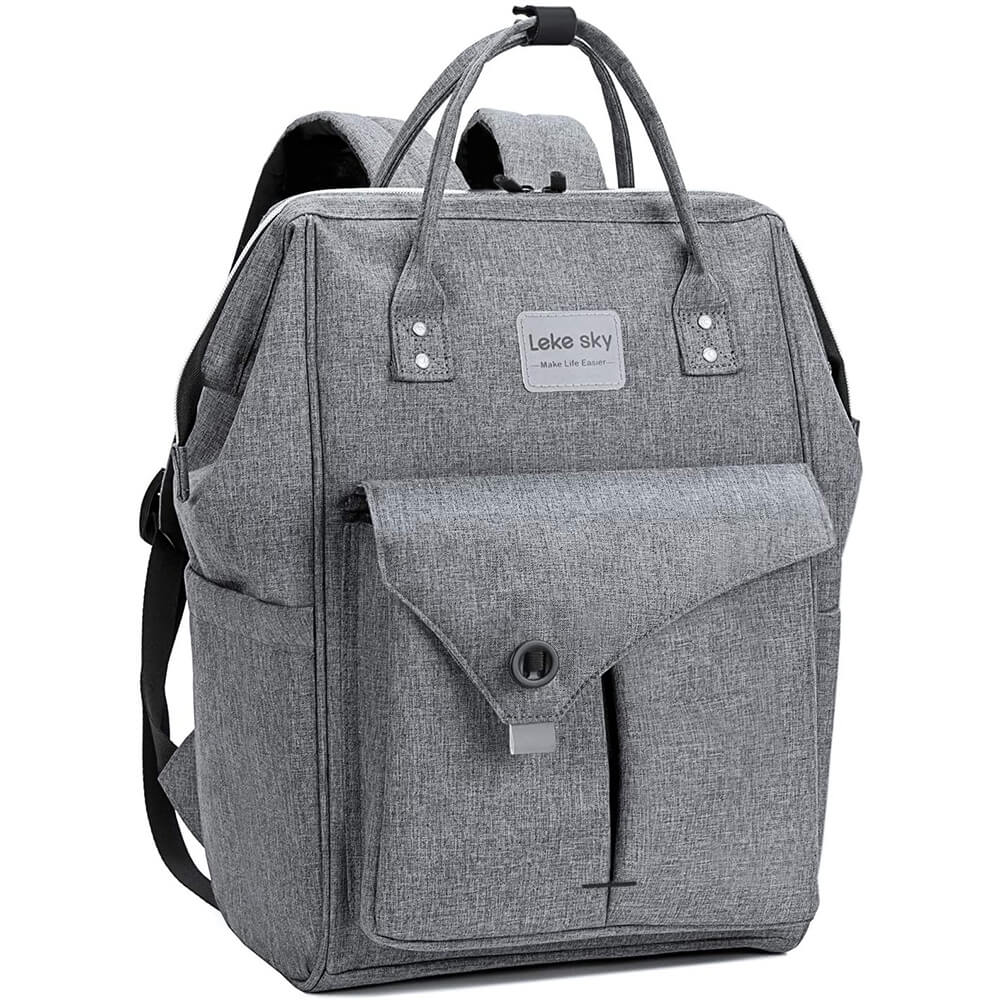 lekesky grey laptop backpacks