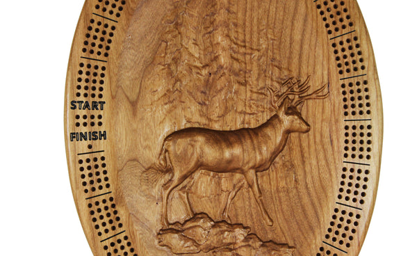 3D Sculpted 4 Player Cribbage Board