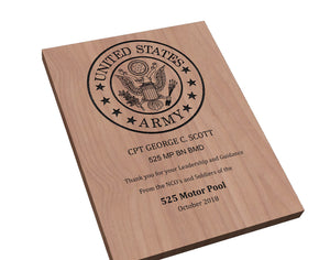 Customizable Army Service Award