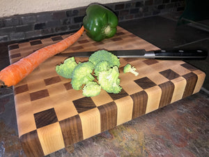 Handmade Hardwood End Grain Cutting Board