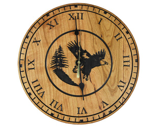 Beautiful cherry wood 10.5 inch Roots and Wings clock