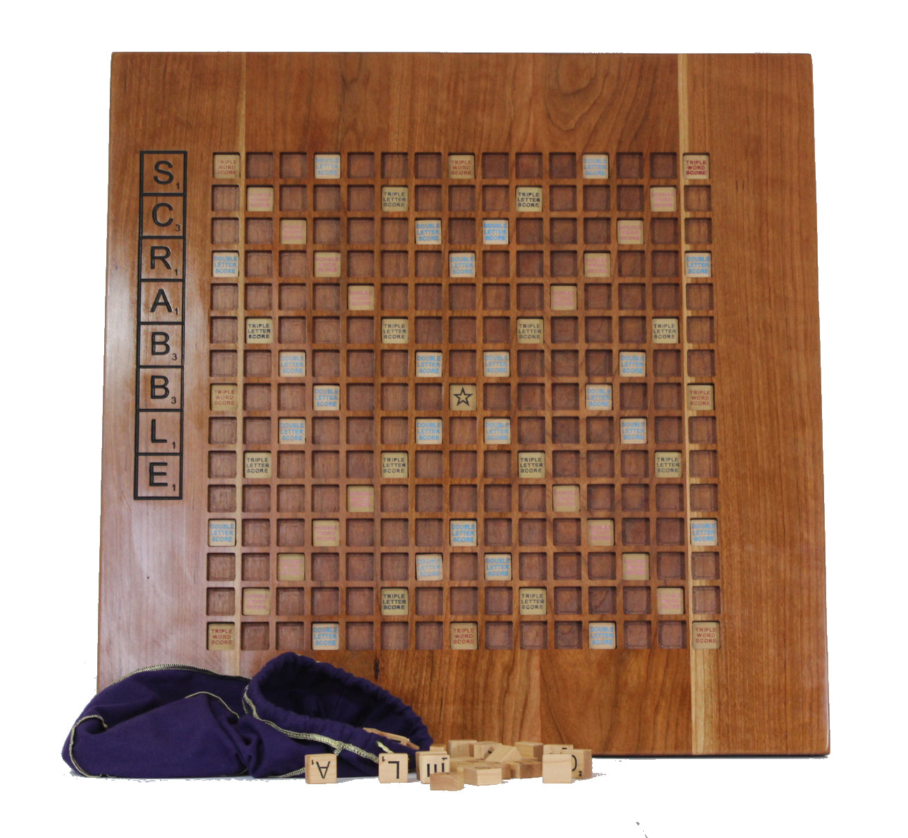 Custom Cherry and Maple Scrabble Board