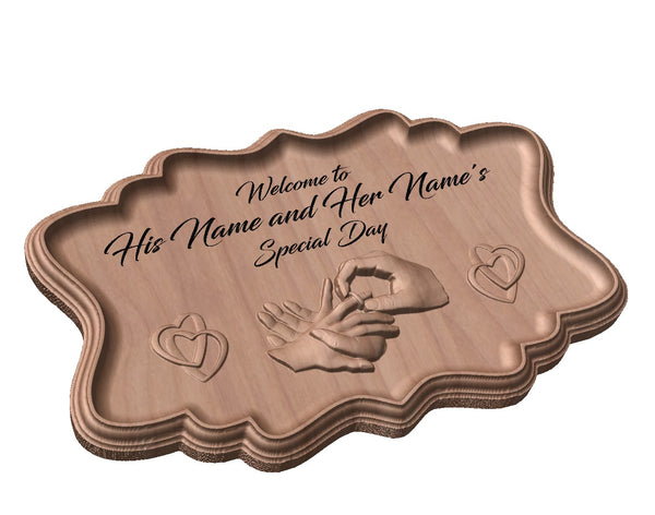 Commemorative Wedding Day Plaque
