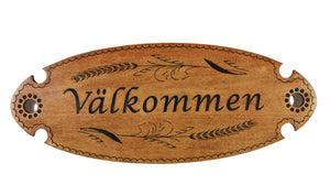 Traditional Swedish Welcome Plaque