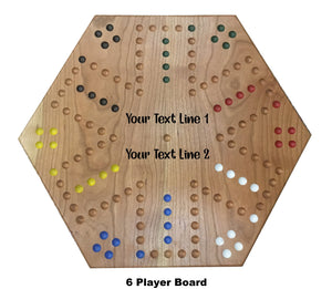 2 Sided 4 and 6 Player Wahoo/Aggravation Board Game