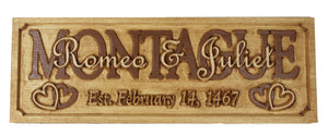 Custom Marriage / Anniversary Plaques - Unique anniversary/wedding commemorative personalized plaque