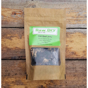 Raw dry Irish beef jerky Dog treats Storganics Dublin Ireland Online