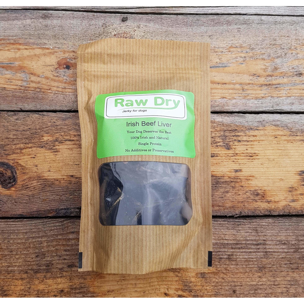 Raw dry irish beef liver Dog treats Storganics Dublin Ireland Online