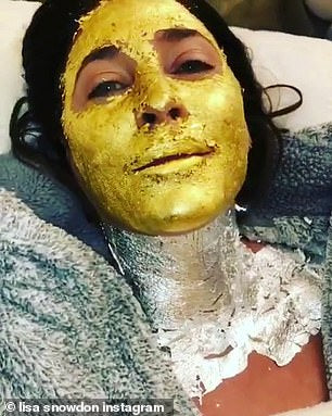 Pure gold! Lisa Snowdon reveals her bizarre 24-carat beauty treatment tip... and it will set you back £160 a bottle