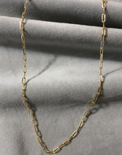 18K Gold Filled Paper Clip Chain