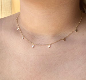 Amy's 14k Gold Tear Drop Dangling Necklace