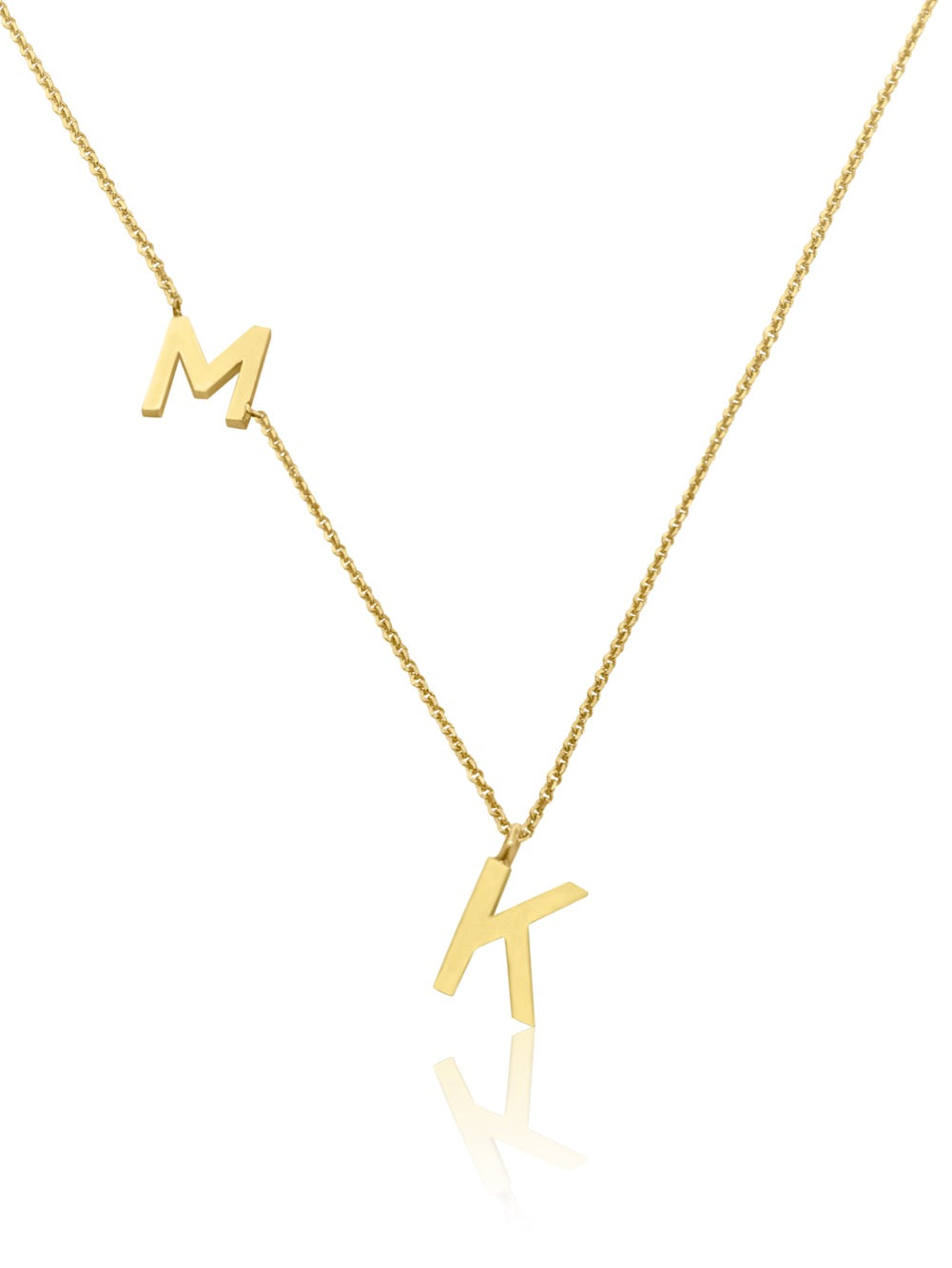 14KT Gold Double Initial Necklace