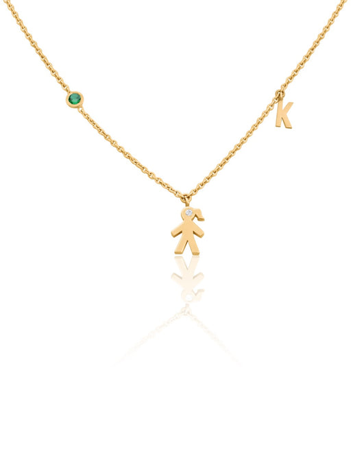 keila jewelry initial mom necklace/girl