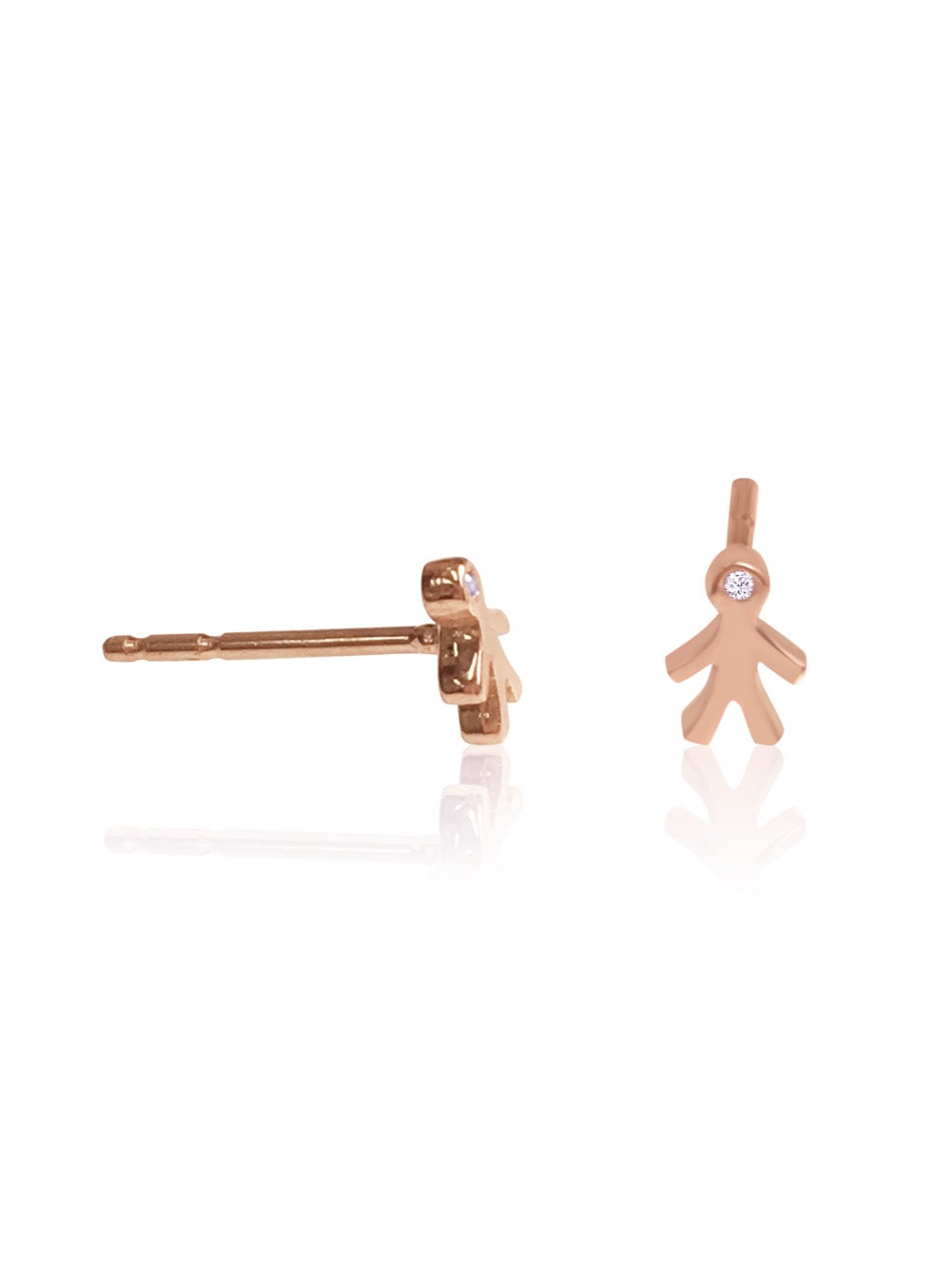 14K Mom Mini Diamond Earring