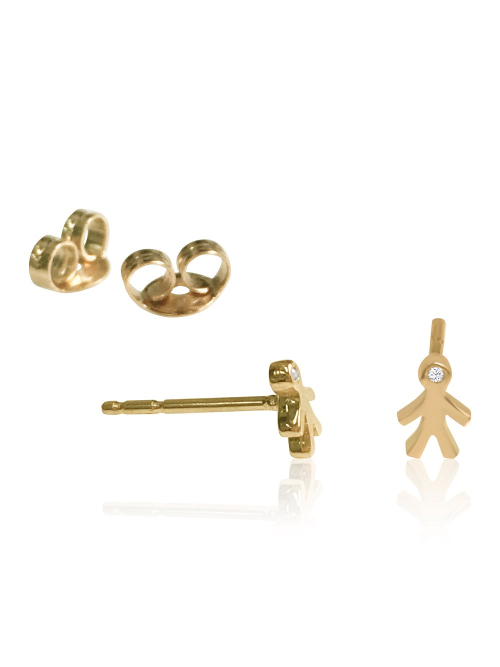 14K Mom Mini Diamond Earrings