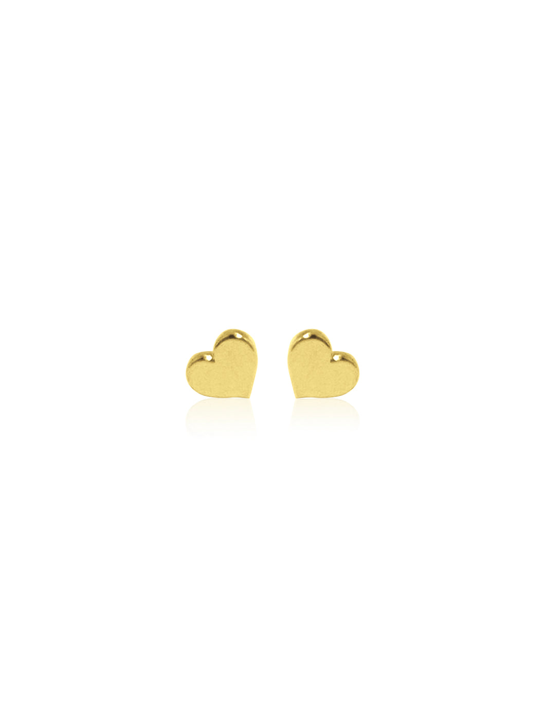 14K Mini Heart Stud Earrings