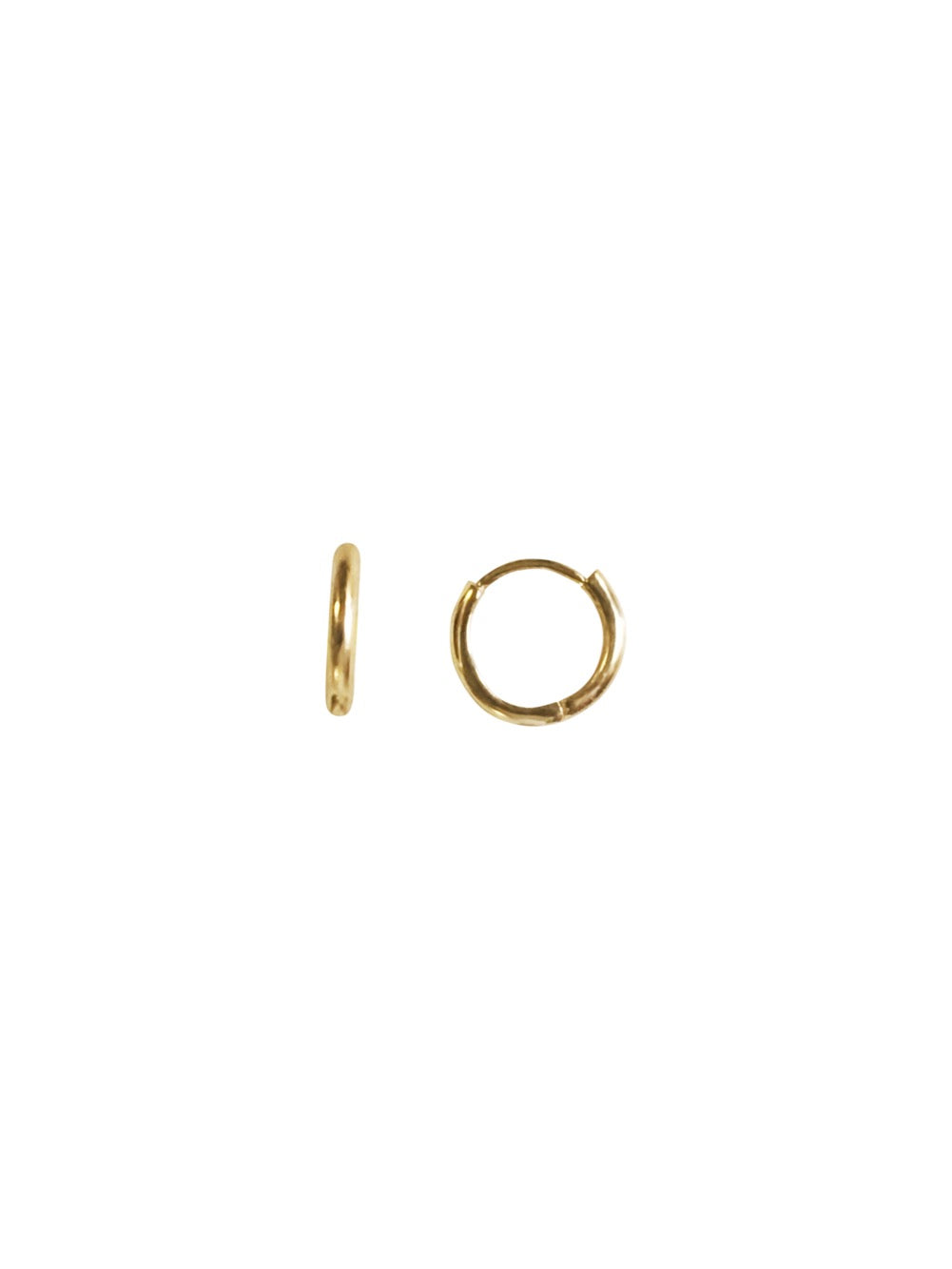 14KT Gold Mini Huggie Clicker Earring