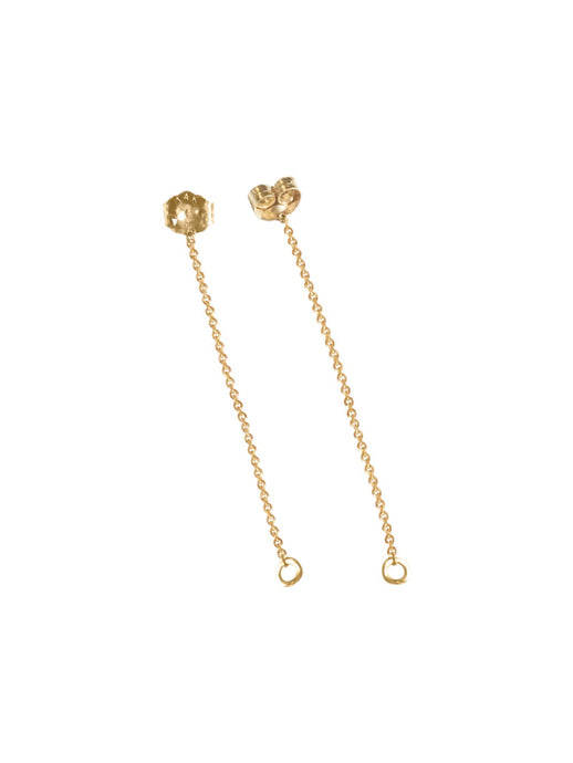 14KT Gold Chain Earring Jackets