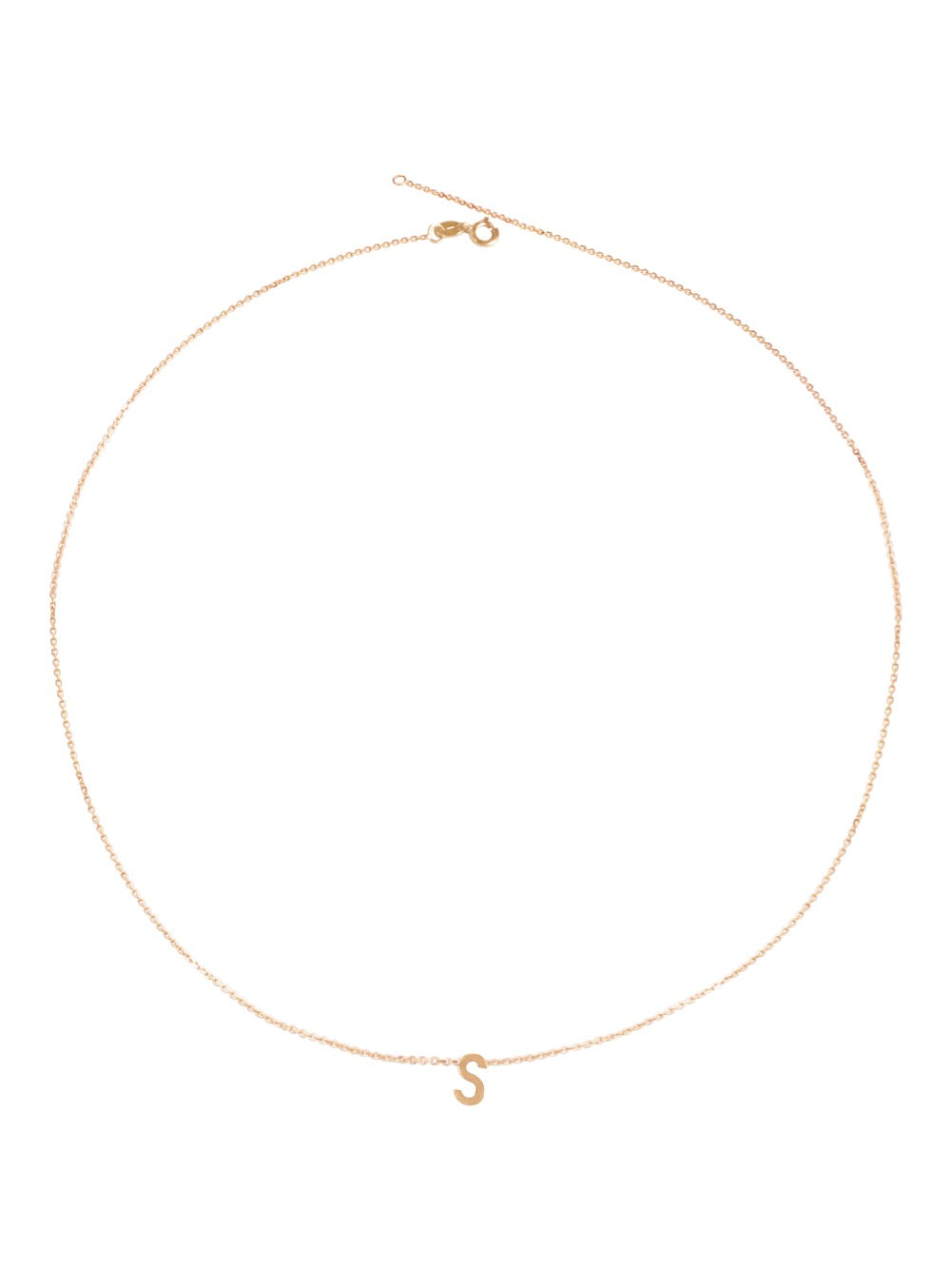 14KT Gold Initial Necklace