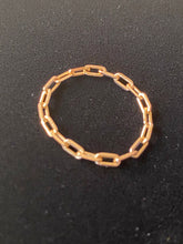 18k Gold Filled paper Clip Soft Chain Ring