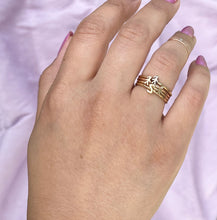 Mom 14K Diamond Mini Stackable Ring